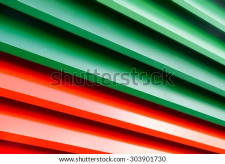 Colorful Metal Blinds, abstract background - stock photo