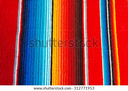 Colorful Mexican Poncho Background