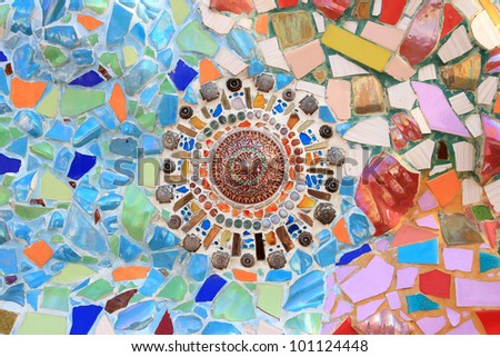 Colorful Mosaic modern idea - stock photo