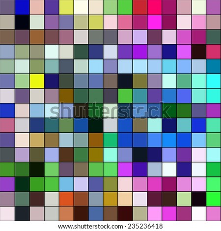 Colorful mosaic square tiles illustration abstract background. - stock photo