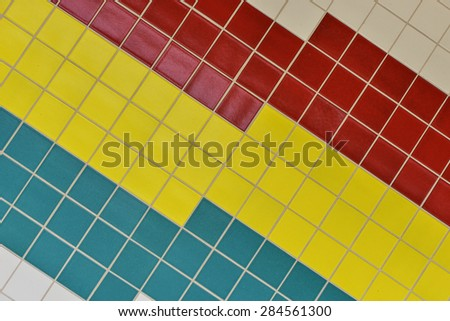 Colorful Mosaic Tiled Background - stock photo