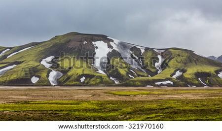 Colorful mountain landscape, Landmannalaugar, Iceland - stock photo