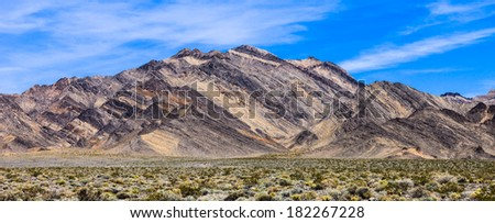 Colorful mountains along Death Valley, California.