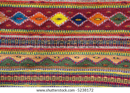 Colorful Native American Rug   Closeup Background, Texture