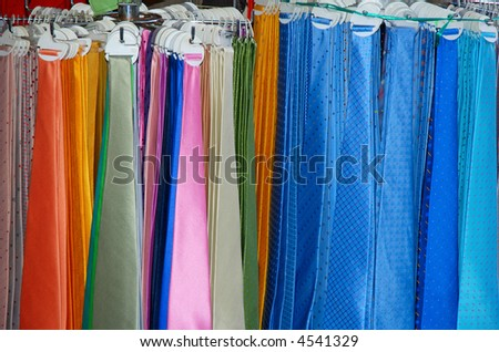 Colorful neck ties - stock photo