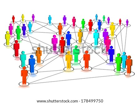 Colorful network - stock photo
