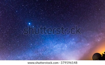 Colorful night sky - stock photo