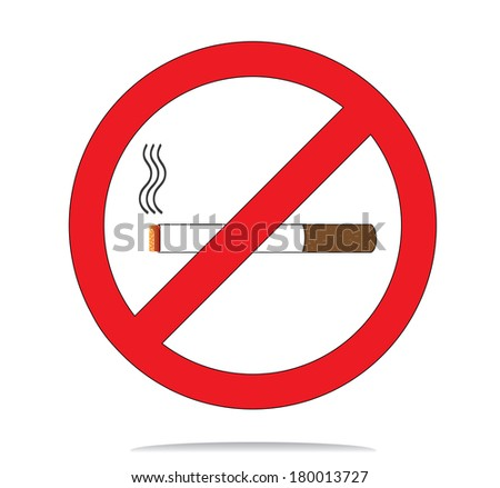 Colorful no smoke sign, raster version.