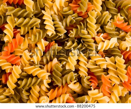 Colorful noodles as a background. Soft focus - stock photo