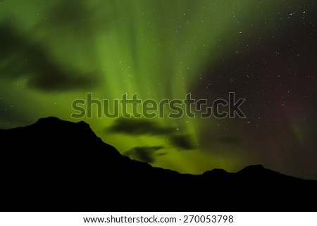 Colorful Northern Lights - stock photo
