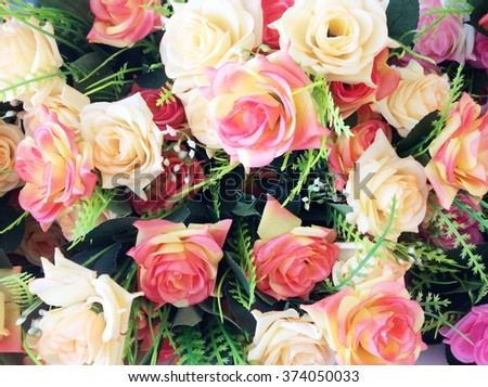 Colorful of Artificial flowers