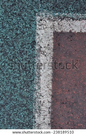 Colorful of athletic field background - stock photo