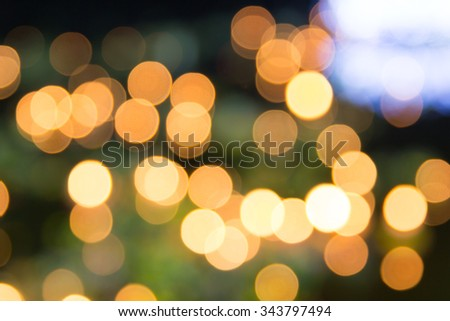 Colorful of blurred lights bokeh.