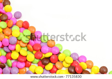 Colorful of candy isolated on white. - stock photo