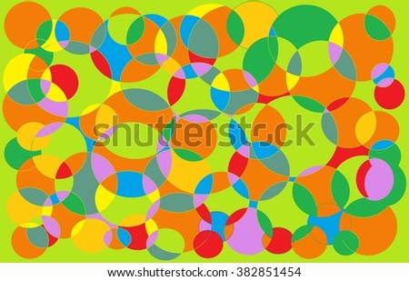 Colorful of circle background