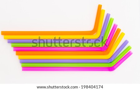 colorful of drinking straw background