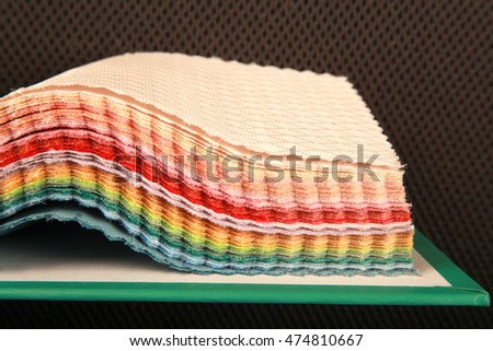 Colorful of fabric texture for background.