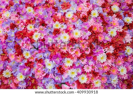 colorful of flower petals background - stock photo