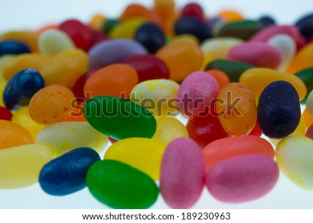colorful of jellybeans