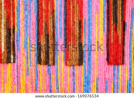Colorful of Rope background