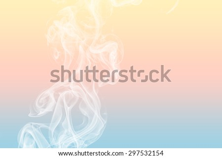 Colorful of smoke on background. - stock photo