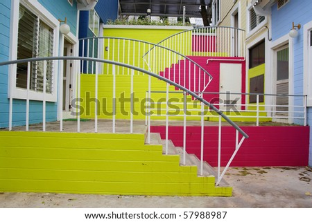 Colorful of stairs.