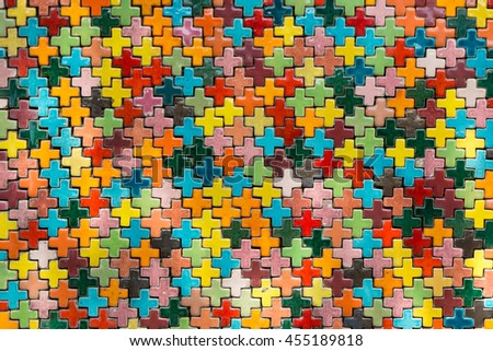 Colorful of tiling texture, abstract color background. - stock photo