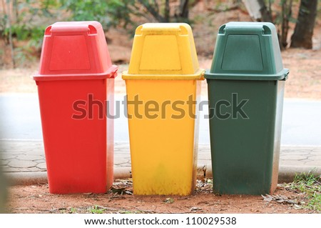 Colorful of Trash - stock photo