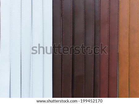 Colorful of trouser leather belt. - stock photo