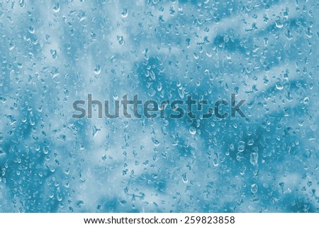 Colorful of Water drop on plastic sheet for background  - stock photo