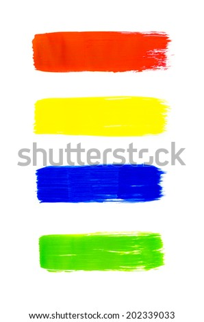 colorful of watercolor on white background and art