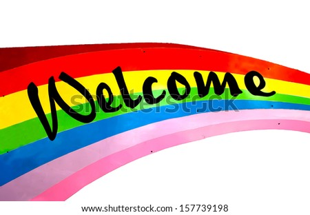 Colorful of welcome - stock photo