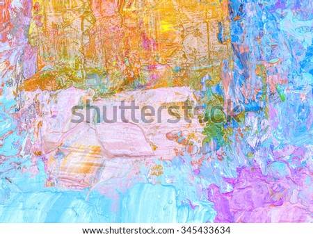 colorful  oil painting texture background