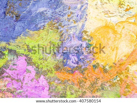 Colorful oil painting texture background, palette knife