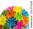Colorful origam - stock photo
