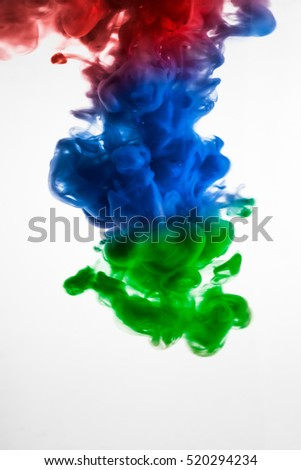 colorful paint in water
