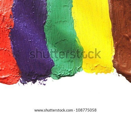 Colorful paint isolated on white background - stock photo