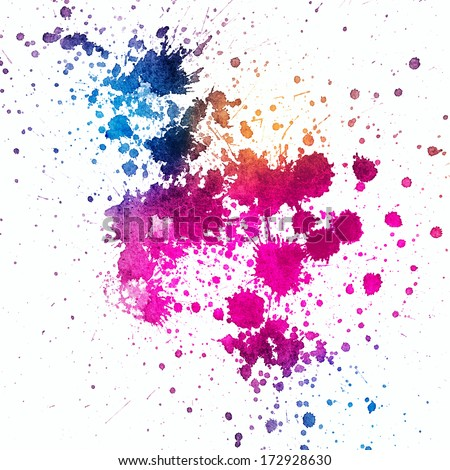 Colorful Paint Splatter On White Background Stock Photo Royalty