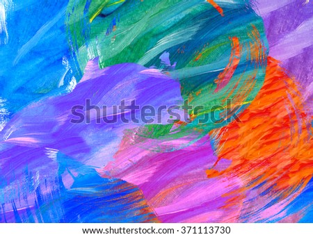 colorful painted abstract design - stock photo