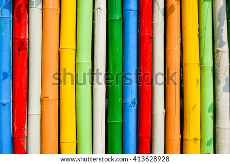 Colorful Painted Bamboo