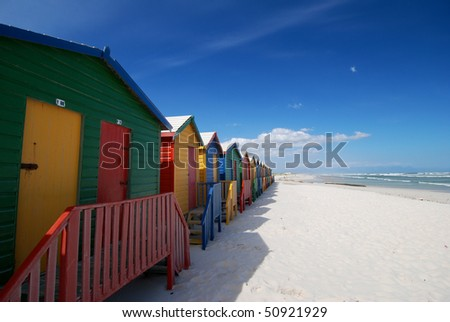 Colorful Painted Bathing boxes