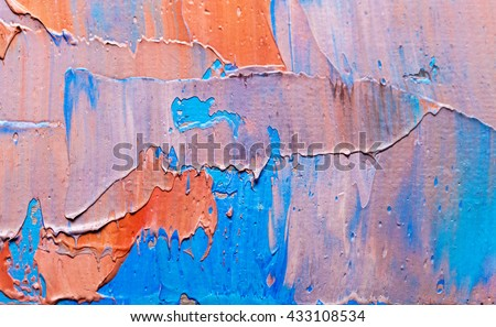 Colorful painted canvas as background. Art is created - stock photo