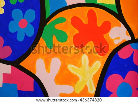 Colorful painted wall.  - stock photo