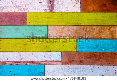colorful painted wood wall texture background