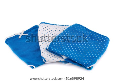 Colorful panties  isolated on white background.