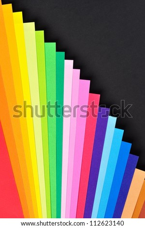 Colorful Paper Background, black area for text - stock photo