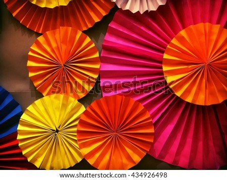 Colorful Paper fan craft