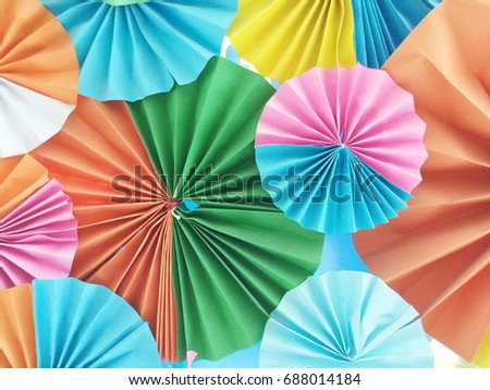 Colorful paper folding abstract pattern for background.
