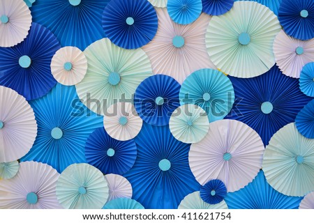 Colorful Paper folding multicolored abstract for background - stock photo