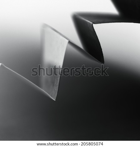Colorful paper shapes with paper background